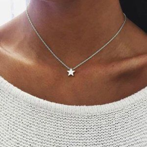 Star Choker Necklace (Silver)